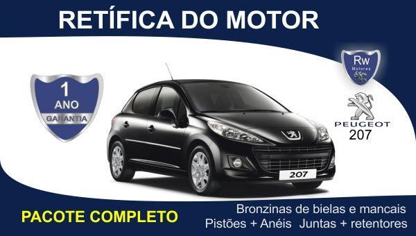 Retífica de motor Peugeot 207 pacote completo