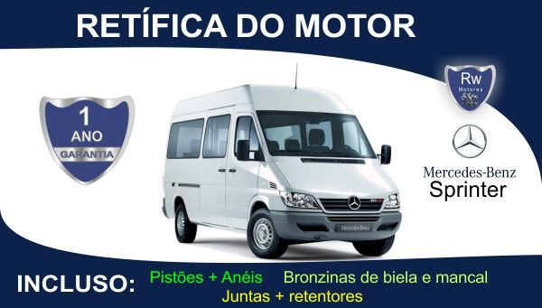 Retífica de motor Mercedes-Benz Sprinter Turbo Diesel Pacote Completo