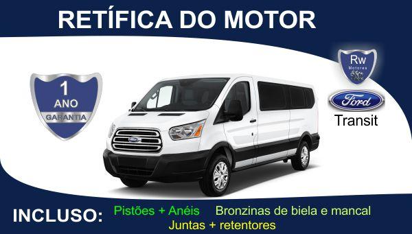 Retífica de motor Ford Transit Turbo Diesel Pacote Completo
