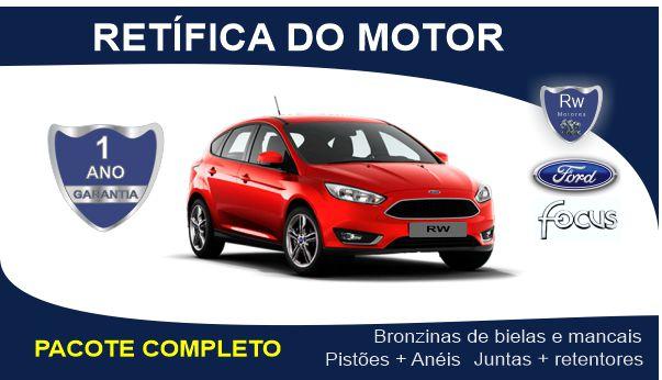 Retífica de motor Ford Focus 1.6 Zetec Rocam / Sigma pacote completo