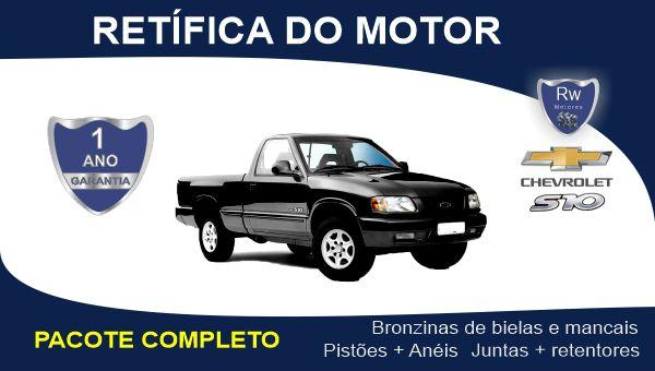 Retífica de motor Chevrolet S10 2.2 8v Gasolina Pacote Completo