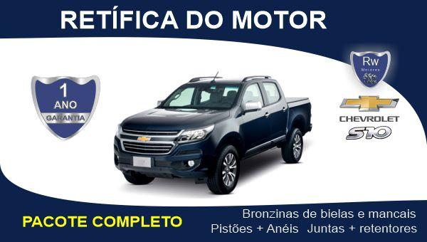 Retífica de motor Chevrolet S10 2.5 16v Flex Ecotec Pacote Completo