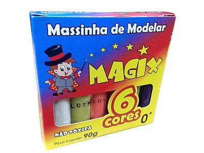 Massinha De Modelar 6 Cores - 90GR