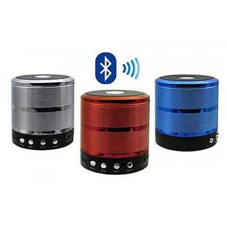 Caixa de Som Bluetooth 5W Com SD Card P2 USB Com Para Atender Chamadas