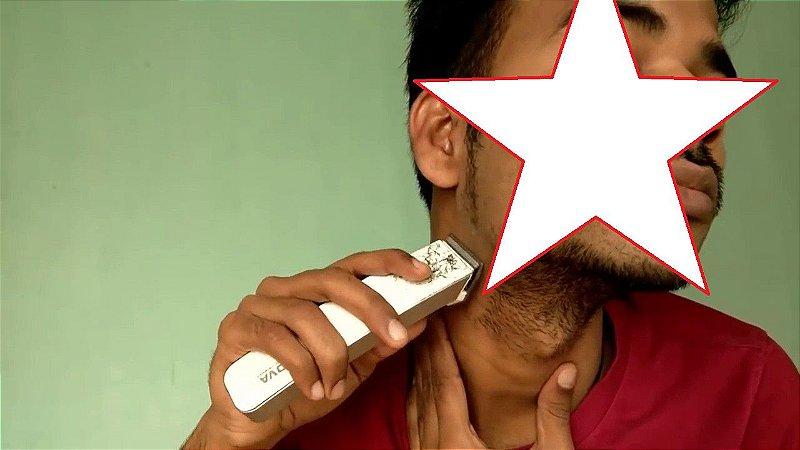 Máquina De Cortar Cabelo E Barba Recarregável NOVA