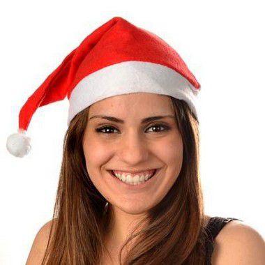 Gorro Gorrinho de Papai Noel em Feltro