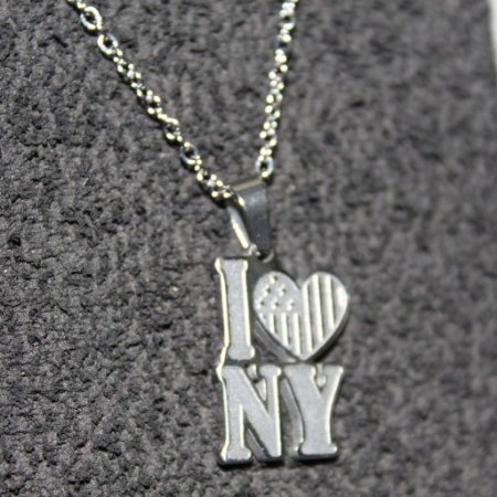 >FRETE GRATIS> GARGANTILHA FEMININA ANTI ALÉRGICO I LOVE NEW YORK NY AÇO INOX