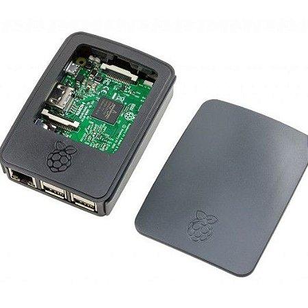 Case Raspberry Pi 3 Oficial original PRETA ideal para proteger e armazenar seu MINI PC