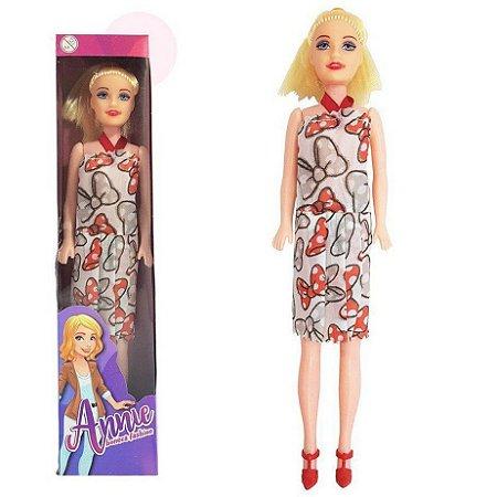 Boneca com Sapato Brinquedo Angel Annie - Bonequinha Infantil para Criança Menina