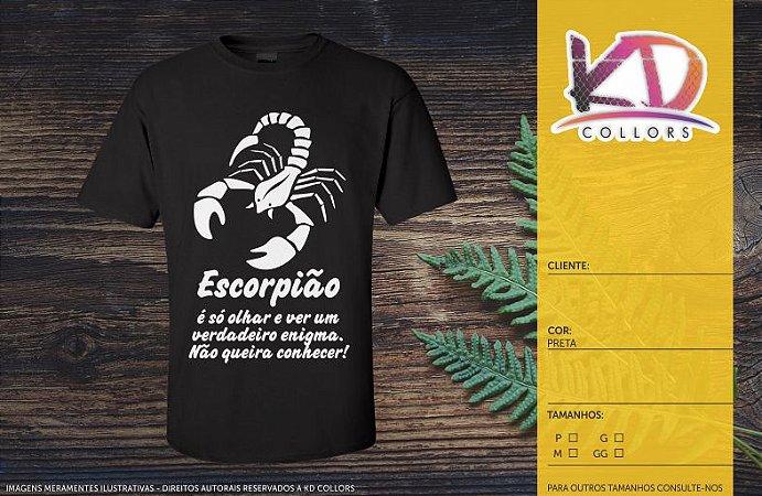 Camiseta Personalizada Signo Escorpião Camisetas Personalizadas E