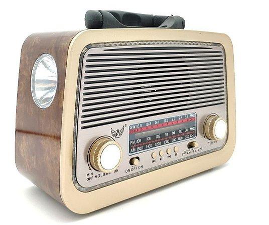 Rádio Retrô lanterna com Bluetooth AM FM Usb Altomex A3199