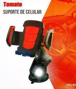 Suporte Veicular Com Ventosa de Silicone com Cola Tomate MTG039
