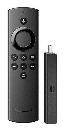 Amazon Fire TV Stick Lite de voz Full HD 8GB preto com 1GB de memória RAM