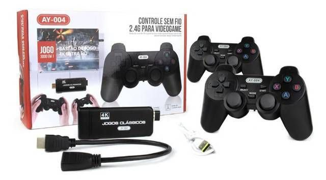 Vídeo Game Retro 5000 Jogos 2 Controles Sem Fio Hdmi