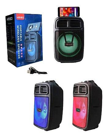 Caixa De Som Bluetooth Com Suporte Para Celular Kimiso