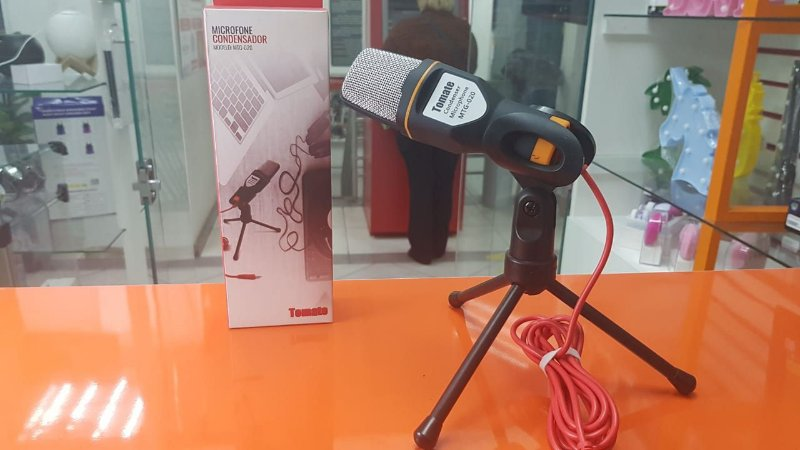 Microfone Condensador Tomate p2 MTG-020