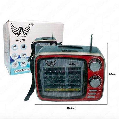 Rádio Retrô Altomex com bluetooth A078T