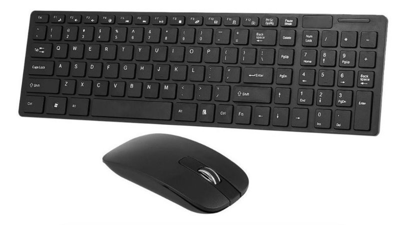 Kit Teclado E Mouse Wireless Ultra Slim Abnt-2 Com Ç