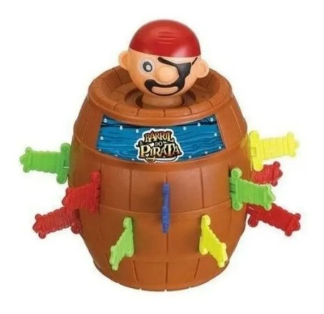 Brinquedo Barril Pula Pirata 18x13