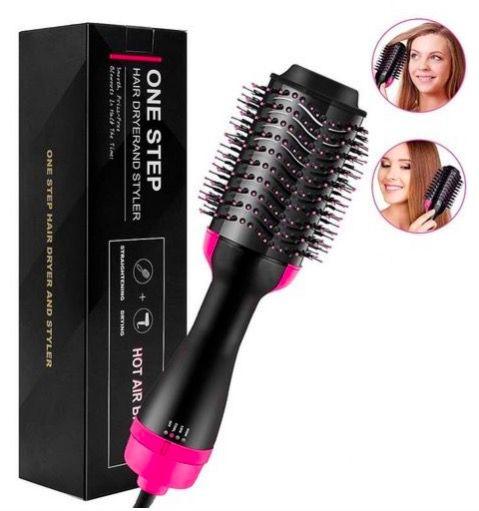 Escova Secadora One Step, Seca Alisa Modela, Hot Hair