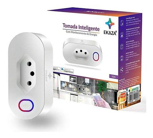 Tomada Inteligente Wifi Smart 16a Ekaza para Alexa e Google Assistente