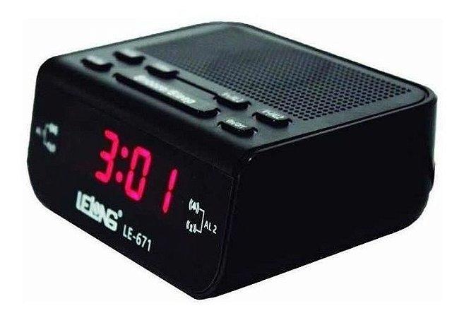 Relógio Despertador Digital Elétrico De Mesa Radio Am Fm