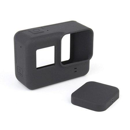 a7f1da8839219 Capa Case Protetora Silicone Para GoPro Hero 5   6  7 + Películas ...