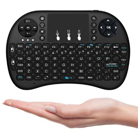 Mini Teclado E Touch Pad Wireless Para Tv Smart Tv Box Pc barato