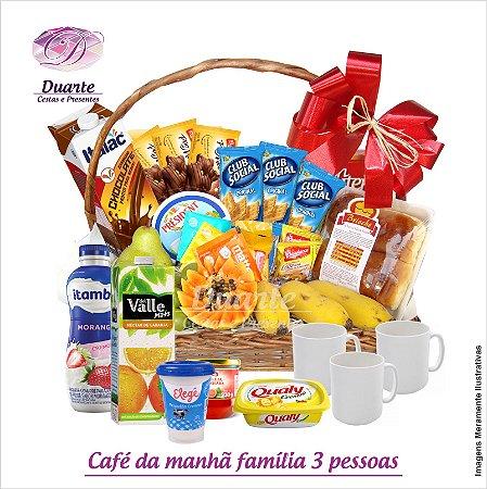 Cesta Bom Dia Família (para 3 pessoas)