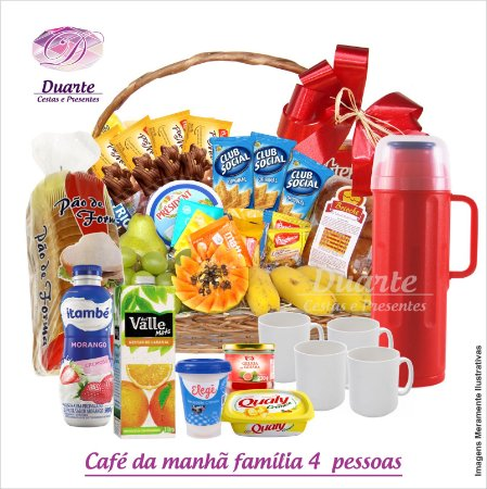 Cesta Café da Manhã  Família Super (4 pessoas)