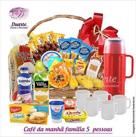 Cesta Café da manhã Família Mega (5 pessoas)