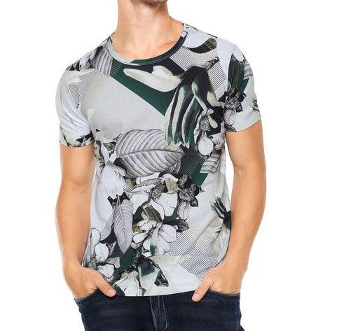 Camiseta forum folhagem cinza tamanho p