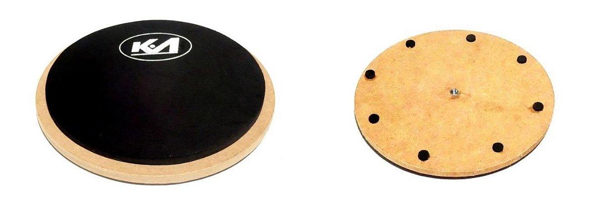 Pad manual de borracha e rosca para acoplagem na estante de bateria
