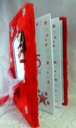 Livro de presença 15 anos modelo boneca