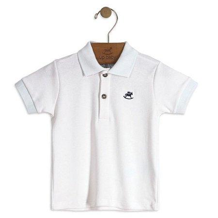 Camisa polo branca especial manga curta - Lulukinha Baby  fe999d8718816