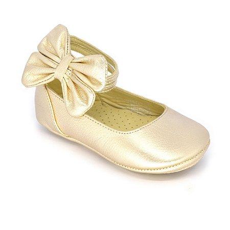16e3181806 Sapatilha Boneca Le Fantymy Metalizado Dourado - MiniSer - Calçados ...