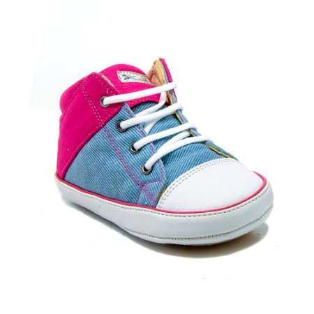 b22994e903 Tênis Abotinado Le Fantymy Jeans Pink - MiniSer - Calçados Infantis