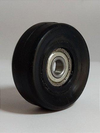 Rodízio para esteira flexível - Eixo de Ø 8mm