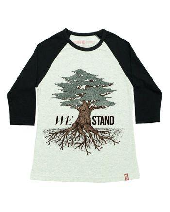 """We Stand"" | Raglan Fem."