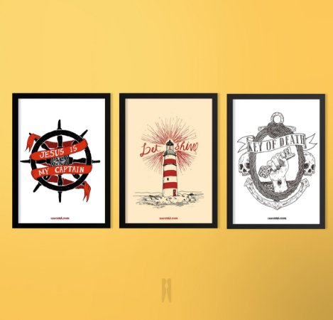 Kit Série Mar | Poster (Sem Moldura / Com Moldura)
