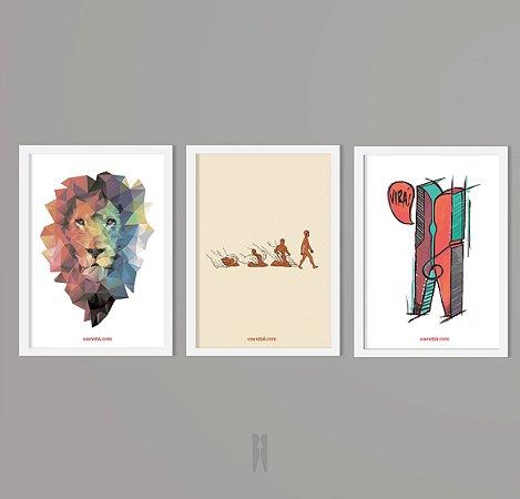 Kit Leão / Pregador / Feito de Barro | Poster (Sem Moldura / Com Moldura)