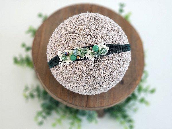 Headband Cristal Verde