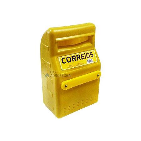 Caixa de Correspondências em PVC para Grade 32X20X12cm Amarela