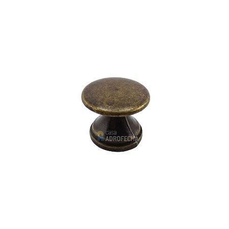 Puxador Ponto Botão 20mm Ouro Velho