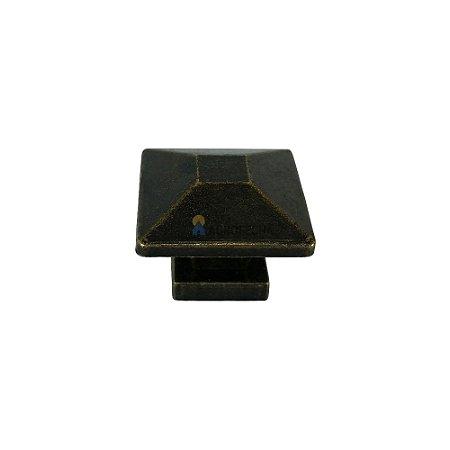 Puxador Quadrado 048 32x32mm Ouro Velho