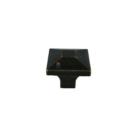 Puxador Ponto Quadrado 052 25x25mm Ouro Velho