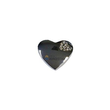 Puxador 4425 Coração Cristais 35mm