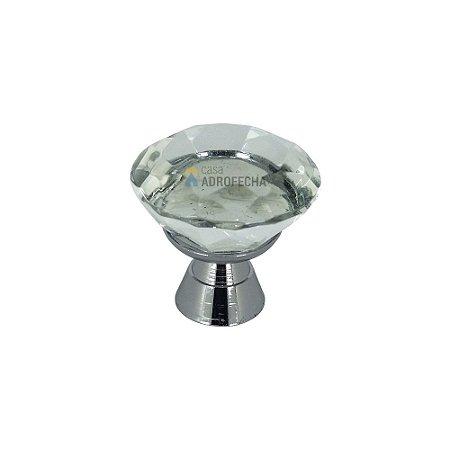 Puxador Ponto 4506 29mm com Cristal Incolor