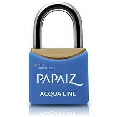 Cadeado Papaiz Acqua Line com Chave Simples Azul