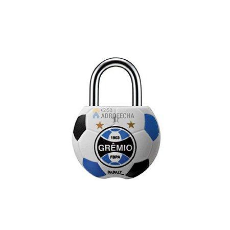 Cadeado Papaiz 25mm com Chave Simples Futebol Grêmio